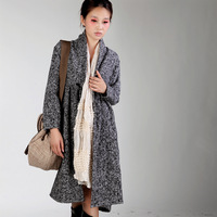 RUOSU Long sleeve length trench black-and-white trench outerwear original design 2012 winter