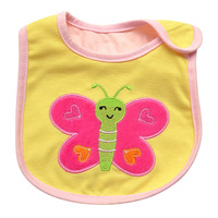 Baby Bib three layers of Waterproof Bib / slobber towel brand cartoon girl baby boy baby bib Butterfly