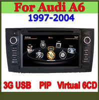 S100 car multimedia player For 1997-2004 Audi A6 with 3G USB bluetooth TV radio PIP virtual 6 disc latest IGO and Navitel map