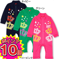 2014 new design baby long sleeve clothes girls clothing fashion infant overall spring baby girls cotton printed crown rompers