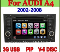 S100 car DVD player For Audi A4 2002-2008 gps Bluetooth Radio RDS IPOD TV Audio Player with 3G USB lastest IGO and Navitel map