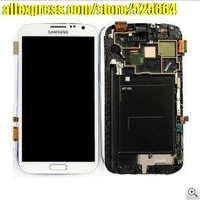 Free shipping for Samsung N7100 display touch screen LCD assembly wholesale and retail