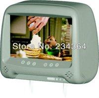 9inch digital Pillow car headrest Monitor  with IR and 2AV input
