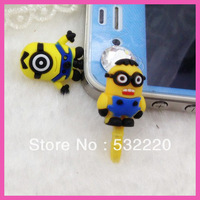 Min order is 10USD! Free shipping 3D glasses soy capsules Precious Milk Dad dust plug for Iphone 5 Can be wholesale
