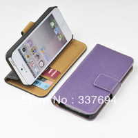 For Samsung Galaxy S4 GENUINE LEATHER Wallet Card Holder+Pouch+Stand Filp Case O-PL Free shipping