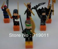 Super Heroes High Quality 6 pcs/lot Iron man/robin/batman/spiderman the Avengers Series' Action Figure Building Block Toys