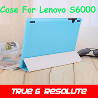 """Newest 5Pcs/Lot 10.1"""" Leather Floder Case Cover For Lenovo S6000 Tablet PC With Flip Stand Dock Holder Multi Color In Stock"""