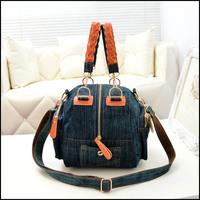 High Quality Denim Women Handbag Totes Canvas Messenger Bag Small Cowboy Nags Designer Shoulder Bag FREE SHIPPING