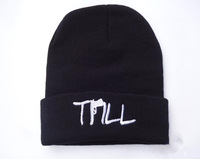 2014 new time-limited adult letter skullies hats for fashion trill beanie hats cool exclusive winter knitted hip hop caps for