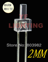 Warm white 2MM dip led 2800-3500K supply water clear light diode 3.0-3.5V(CE&Rosh)