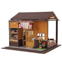 Sakura sushi shop!The manual DIY cabin wholesale assembling model Japanese style Zakka home furnishing!Hand-made doll house toys