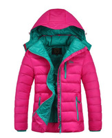 2013 New women winter thicken casual hooded coats warm outerwear short design down parkas