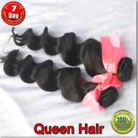 2 Bundles / lot  100% Brazilian hair loose wave rosa wavy weave ,unprocessed hair weave DHL free shipping