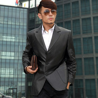 Wpkds genuine leather clothing leather suit slim quality sheepskin leather clothing male fur genuine leather suit  men coat