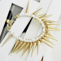 New Fashion Good Quality Hot Punk Rivet Tassels Leather Strap Bracelet Party Gift Free Shipping