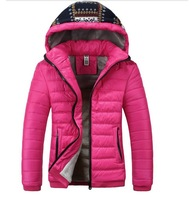 2013 new women winter thicken warm coats velvet fleece hooded casual slim short desgins outerwear down parkas