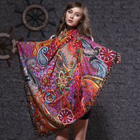 Silk scarf large flower facecloth star style silk scarf natural silk scarf