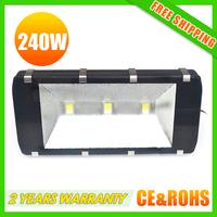 power 3x80W 240w waterproof outdoor light LED flood light flood lighting led tunnel light square lamp DHL free shipping high