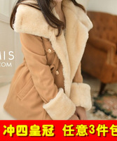 Slim double breasted wool preppy style wool coat outerwear 333