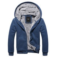 Autumn and winter with a hood sweatshirt men's clothing outerwear plus velvet thickening cardigan male coat 2013 winter