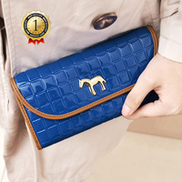 top selling 2013 new fashion designer women's ladies hasp horse wallet Clutch brand  bag bags  wallets holders free shipping