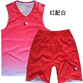 Reversible jersey male basketball training service set reversible basketball jersey