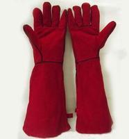 60cm lengthen welding gloves long-sleeve 4pairs/lot free shipping via fedex
