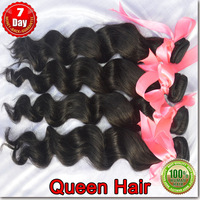 1 Bundles / lot  queen hair products Brazilian hair loose wave ,100% unprocessed human hair weaving free shipping