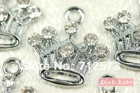 M81c MONNEL Best Selling Cute Crystal Queen Princess Crown Charm Pendant Wholesale Free Shipping
