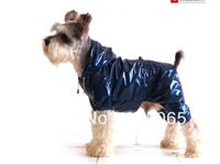 2013 New Pet Cat Dog Raincoat Rainwear for Large Small dogs  Double Soft Bright PVC Waterproof Layers Rain Jacket Costume Blue