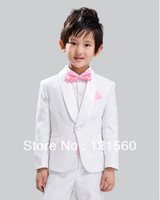Free shipping High quailty White dress for a boy  Suit for boy of the formal  Can be customized Blazers Suits