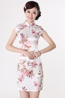 Free shipping  Brief paragraph slim skirt cultivate cheongsam dress