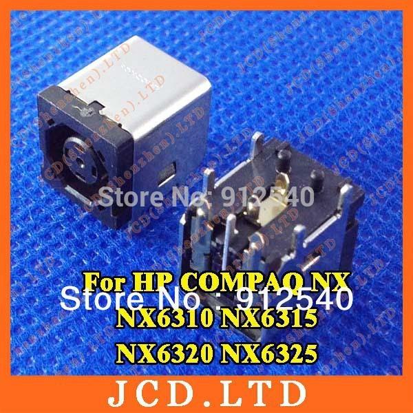 30X Original New Octagonal hole(Square hole) DC Jack for HP COMPAQ NX NX6310 NX6315 NX6320 NX6325(China (Mainland))