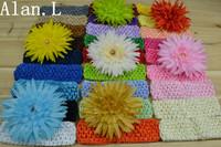 Wholesale beautiful 26 Crochet Headbands and 7 Lovely Australia Daisy Flower for baby girls