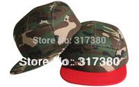 Wholesale 10pcs 5 Panel Fashion Trendy Men Blank Camouflage Snapback Hats Women Camo Caps Mens Camper Flat Bill Hat Baseball Cap