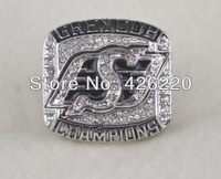 Free shipping replica  2007 Canada Saskatchewan Roughriders grey cup football  Championship Ring,Men ring