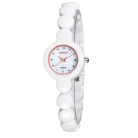 Candy color ceramic table rhinestone jelly women's watch space ceramic anti-allergic bracelet watch