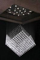 Chandelier Modern Crystal K9 Transparent LED GU10 Large Size Square Design Hanging Bedroom Lighting Liiving Room Dining Room