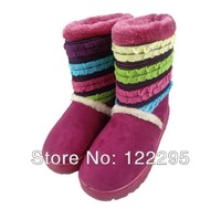 2013 new winter snow boots for women / in-tube warm shoes / boots cotton boots goatskin