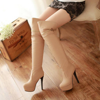 Big size new 2013 womens high-heeled boots winter platform flashion thigh  high long pumps women boots J1427