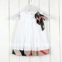 2014 brand new girls plaid dress with 100% cotton,high quality baby & kids dresses,famous designer kids girl dress 2-6Y