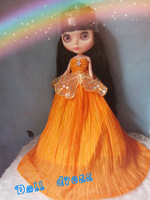 Free Shipping hot sale BL-161# accessories wedding dress for  Blythe doll  / kurhn/Barbie girls birthday gift