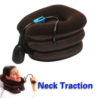Cervical air neck traction brace soft device unit