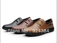 2013 new, men, natural leather, apartments, driving, casual shoes, fashion, business, men leather shoes, free shipping