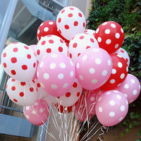 Free Shipping 100pcs/lot 12 candy color dot thickening latex balloon birthday wedding decoration balloon