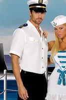 FREE SHIPPING Male Men navy police uniform 2523