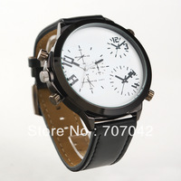 Fashion worldwide watches quarts sports watch with campass , leather belt