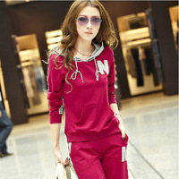 2013 sweatshirt set casual set female spring and autumn sportswear set female sweatshirt set