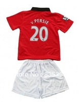 2013-2014 manchester van V Persie #10 kids boys girls player version football soccer jersey shirt embroidery customize home red