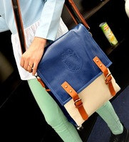 New Arrival PU Leather Multifunctional School Bag Contrasting Thread  Handbags,Women's Handbag Shoulder Bag 099